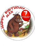 7.5 PERSONALISED GRUFFALO Icing or Wafer Cake Topper Gruffallo